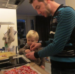 Samen pizza maken